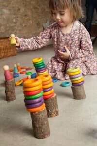Grapat houten speelgoed