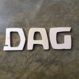 """Dag"" in Speelbelovend letters"