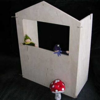 tafelpoppenkastje Speelbelovend met 2 vilten poppetjes en een paddestoel