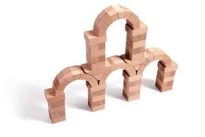 4 bogen gebouwd met wodibow blokken