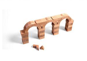 3 bogen gebouwd met Wodibow blokken