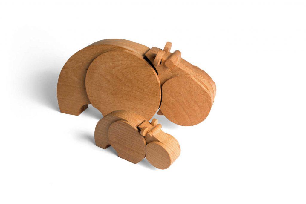 Nijlpaard gemaakt van