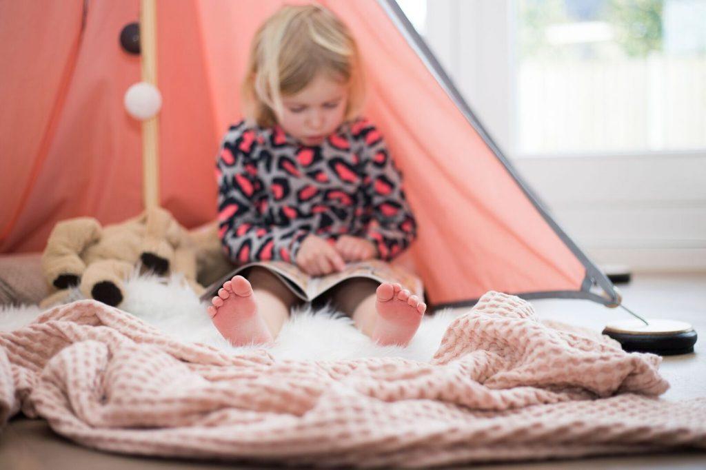 Lekker lezen in de tent